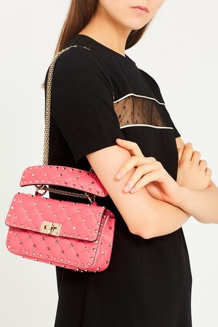 ... Розовая сумка из кожи Rockstud Spike Valentino Garavani Valentino -  Valentino, Сумки, Сумки Valentino ... 4b6db017ec1
