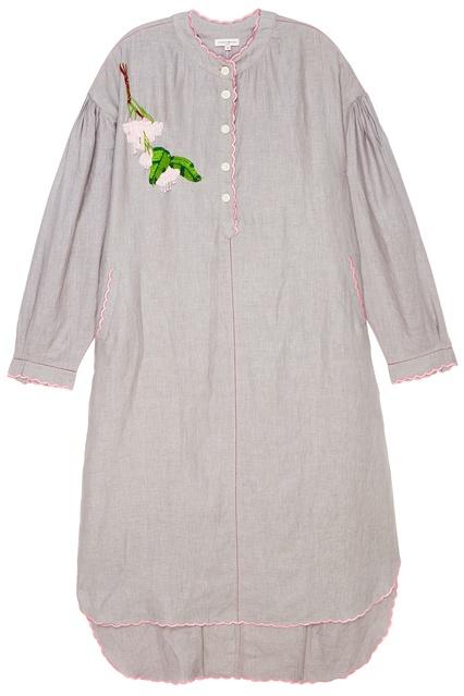 8575a255a018 Льняное платье-рубашка с вышивкой Natasha Zinko - Natasha Zinko, Одежда,  Одежда Natasha ...