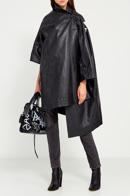 6630f53a38c Кожаное пальто Balenciaga – купить в интернет-магазине в Москве