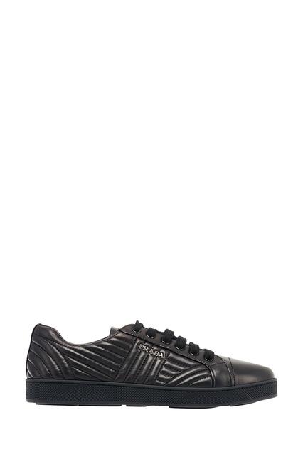 3c9846a1 Черные кожаные кроссовки Prada - Prada, Женское, Женское Prada, вид 1 ...