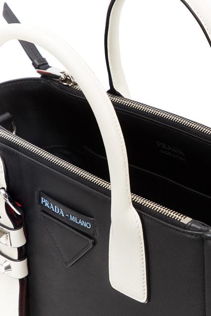 ... Черная кожаная сумка Concept Prada - Prada, Сумки, Сумки Prada, вид 7  ... 03dc49e8c7a