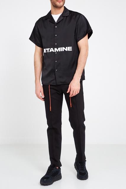182f313b6aca3a7 ... Черная рубашка с надписью Heliot Emil - Heliot Emil, Мужское, Мужское  Heliot Emil, ...