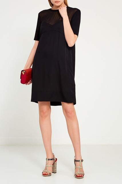 d521e433a20 Комбинированное черное платье By Malene Birger – купить в интернет ...
