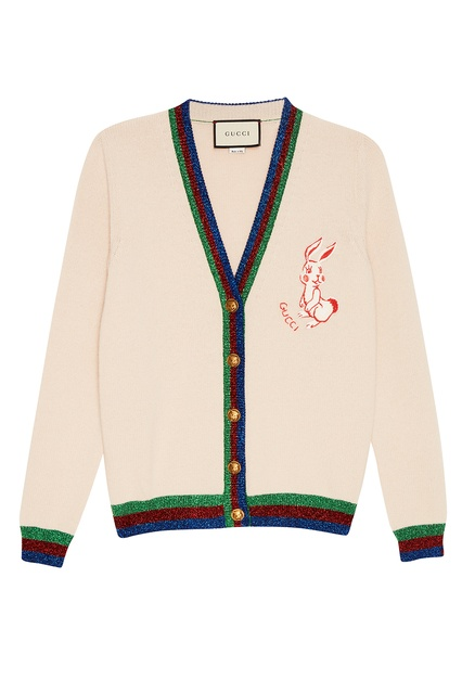 Шерстяной кардиган с нашивкой Gucci - Gucci, Одежда, Одежда Gucci, вид 1 ... df475ee2dd6