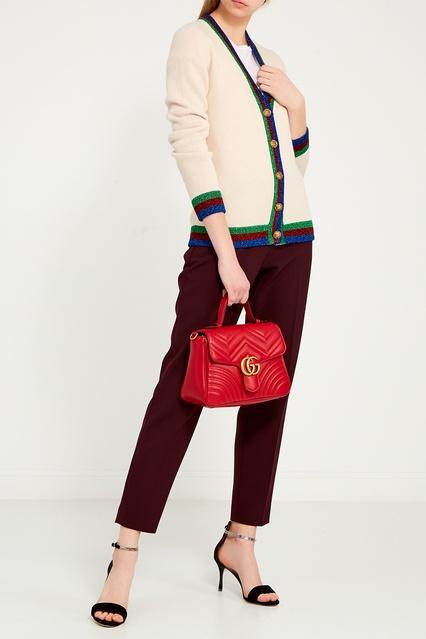... Шерстяной кардиган с нашивкой Gucci - Gucci, Одежда, Одежда Gucci, вид  2 ... 1ddce8e2545