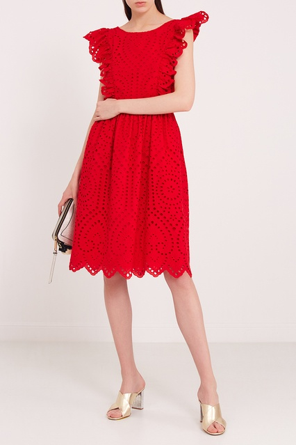 71f220196402517 ... Красное платье из вышитого хлопка Paul & Joe Sister - Paul & Joe  Sister, Женское ...