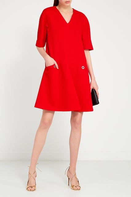 2f80508681e ... Красное платье-трапеция с карманами Adolfo Dominguez - Adolfo  Dominguez