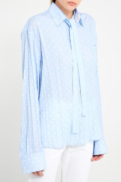 39b3c1b3ced Плиссированная блузка в горох Haider Ackermann – купить в интернет ...