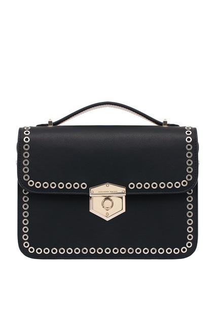 7aaa1f34d0b8 Черная кожаная сумка с люверсами Wicca Alexander McQueen - Alexander  McQueen, Женское, Женское Alexander ...