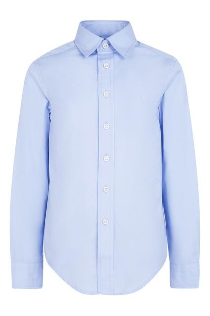 a172cfc81a5 Голубая хлопковая рубашка Ralph Lauren Kids – купить в интернет ...