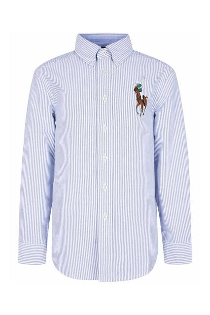 5b3bbd66336 Рубашка в полоску с цветной вышивкой Ralph Lauren Kids - Ralph Lauren Kids
