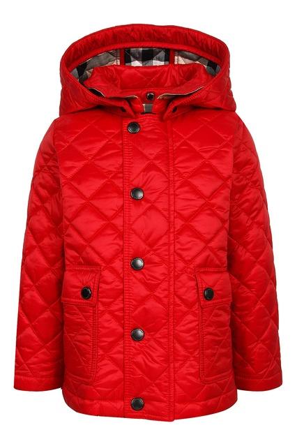 Красная стеганая куртка Burberry Kids - Burberry Kids, Детское, Детское Burberry  Kids, вид ... 76b78e45c6c