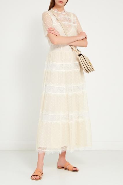 d45975dc62e Платье из сетки с кружевом LAROOM – купить в интернет-магазине в Москве