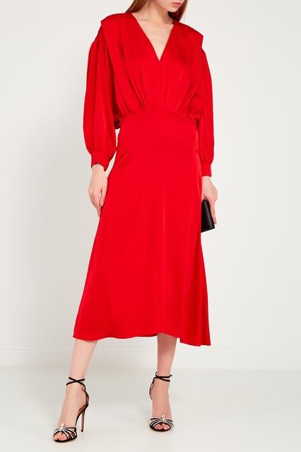 5ce3bb34625 Красное платье с драпировками ЛИ-ЛУ – купить в интернет-магазине в ...