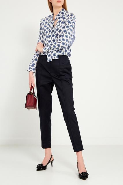11ffab64f8e Шелковая блузка с контрастным принтом Sandro – купить в интернет ...