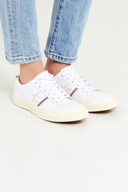 ... Белые кожаные кеды One Star Converse - Converse, Обувь, Обувь Converse,  вид 3 ... 23ce63ca59e