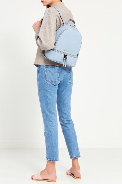 6309fd9278be ... Бледно-голубой рюкзак Rhea Zip Michael Michael Kors - Michael Michael  Kors, Женское, ...