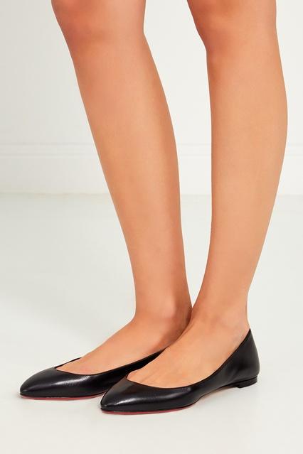 free shipping 8df2a 36754 Черные кожаные балетки Eloise Flat Christian Louboutin