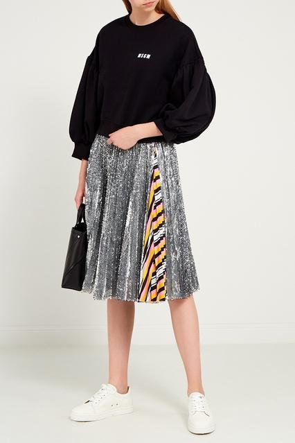 bc01c9e7d44 Плиссированная юбка в пайетках MSGM – купить в интернет-магазине в ...