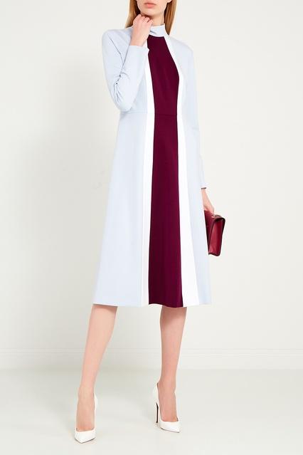 0cda9dbd42c Голубое платье с полосой ERMA – купить в интернет-магазине в Москве