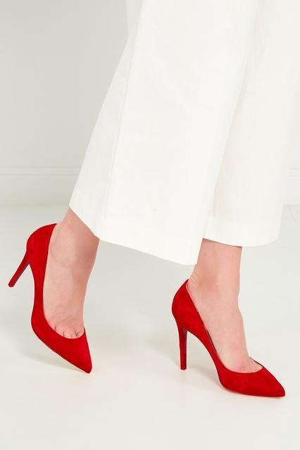 ... Красные замшевые туфли Pigalle 100 Christian Louboutin - Christian  Louboutin 2e404ebb8bd40
