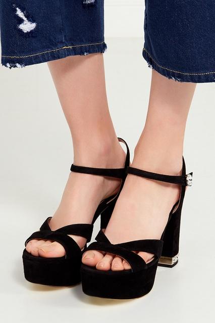 ... Замшевые босоножки на платформе Miu Miu - Miu Miu, Обувь, Обувь Miu Miu,  ... 42bcb914ac9