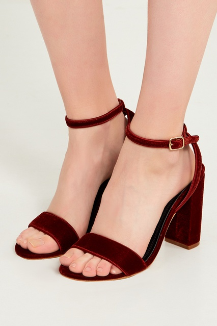 ... Бордовые бархатные босоножки Sandro - Sandro, Обувь, Обувь Sandro, вид  3 ... aedb576c73f