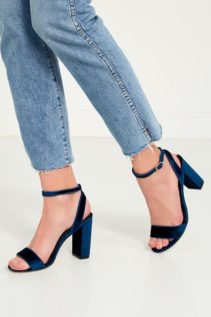 ... Синие бархатные босоножки Sandro - Sandro, Обувь, Обувь Sandro, вид 3  ... 71258a08399