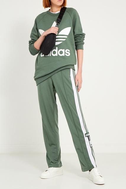 c4c6e1105b24 ... Зеленые брюки с лампасами и стрелками Adidas - Adidas, Одежда, Одежда  Adidas, вид ...