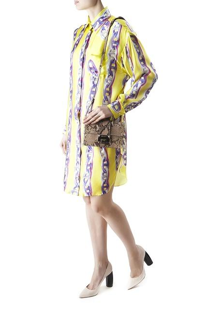 Шелковое платье (90-е гг.) Hermes - Винтажное платье-рубашка Hermes ... b9af489b8a0