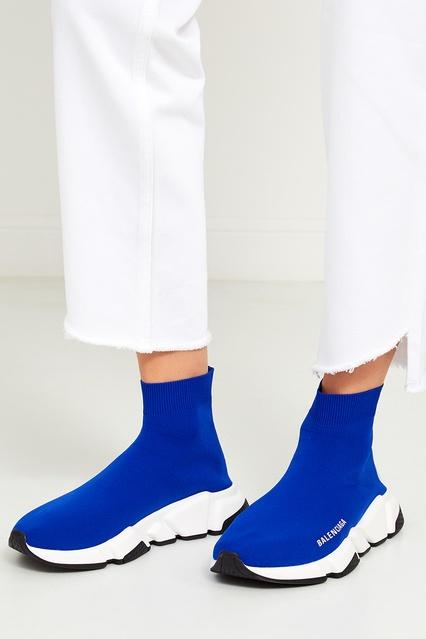 4df1d61d ... Синие текстильные кроссовки Speed Balenciaga - Balenciaga, Женское,  Женское Balenciaga, вид 3 ...