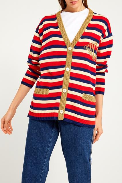 Кардиган в полоску Gucci - Кардиган Gucci выполнен из натурального ... 10f5da8d207