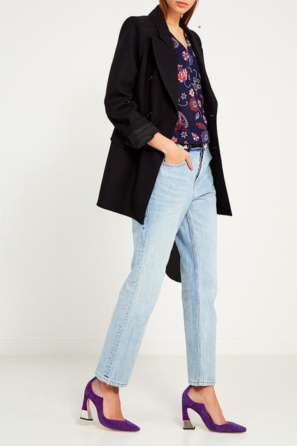 3faf347b601 Шелковая блузка с принтом Claudie Pierlot – купить в интернет ...