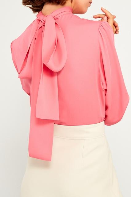 4af9d6ed63b Розовая блузка с бантом Gucci – купить в интернет-магазине в Москве