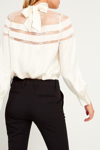 cf0dd1175d0 Белая блузка с кружевом Sandro – купить в интернет-магазине в Москве
