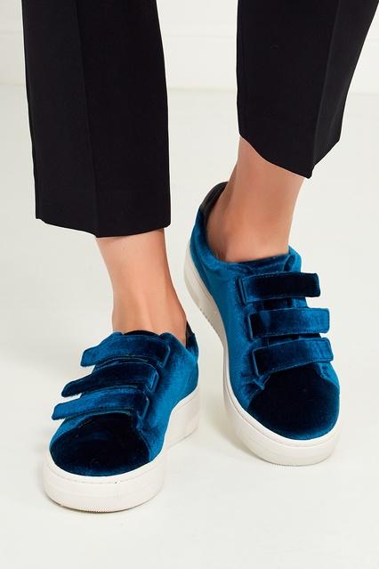 ... Бирюзовые вельветовые кроссовки Sandro - Sandro, Обувь, Обувь Sandro,  вид 3 ... 7ec25250037