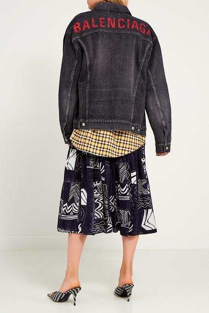 abb77491473c ... Серая джинсовая куртка Balenciaga - Balenciaga, Одежда, Одежда  Balenciaga, вид 3 ...