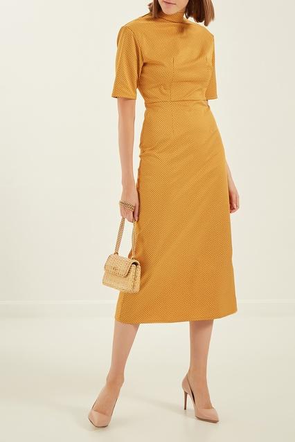 c38d15b2ec7 Желтое платье в горошек Kuraga – купить в интернет-магазине в Москве