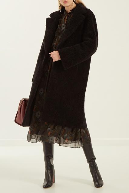 87f56d6a287 Черное пальто свободного кроя D.O.T.127 – купить в интернет-магазине ...