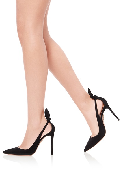 a46291fbf871 ... Черные туфли Deneuve Pump 105 Aquazzura - Aquazzura, Обувь, Обувь  Aquazzura, вид 2 ...