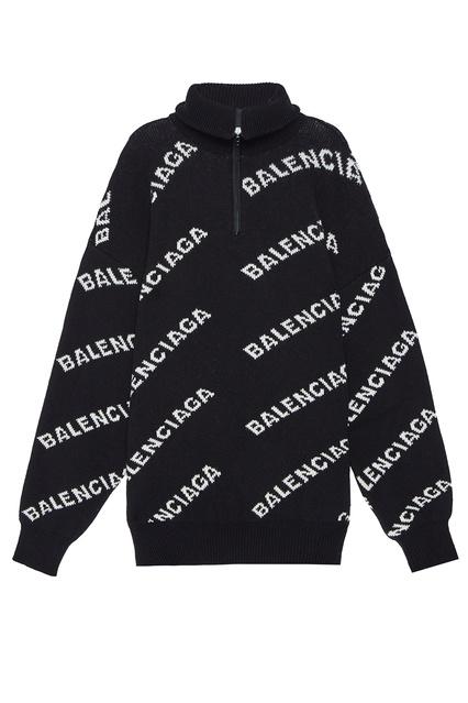 daca73ebb329 Черный свитер с контрастными надписями Balenciaga Man - Balenciaga Man,  Тренды, Тренды Balenciaga Man ...