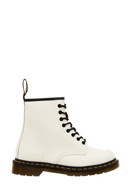 Белые высокие ботинки на шнуровке DR.Martens – купить в интернет ... dc72012edfcbf