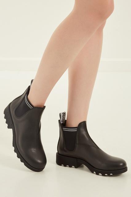 ... Черные кожаные ботинки Miu Miu - Miu Miu, Обувь, Обувь Miu Miu, вид ... 3ef904bd4e7