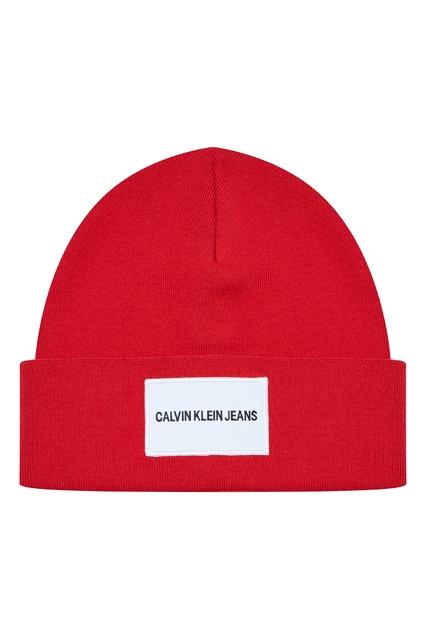 17bc6f65747f Красная шапка с логотипом Calvin Klein