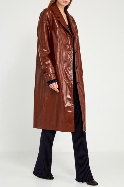 baaed2c7184 Терракотовое кожаное пальто Color°Temperature – купить в интернет ...