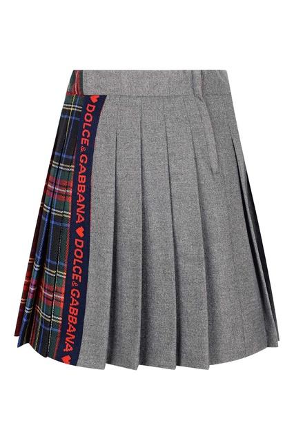94426c9c6d0 ... Комбинированная юбка в клетку Dolce Gabbana Children - Dolce Gabbana  Children