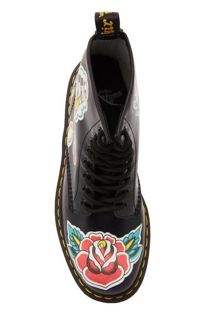 Ботинки с контрастным принтом DR.Martens – купить в интернет ... 85e2b6318e9bc
