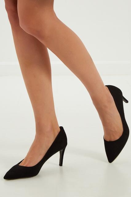 ... Черные туфли-лодочки на низком каблуке What For - What For, Обувь,  Обувь ... 81c46f94588