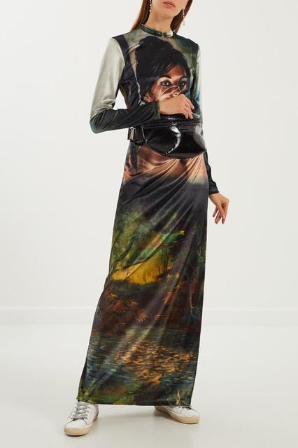 95a14ca4214 Платье макси с макропринтом Stella McCartney – купить в интернет ...