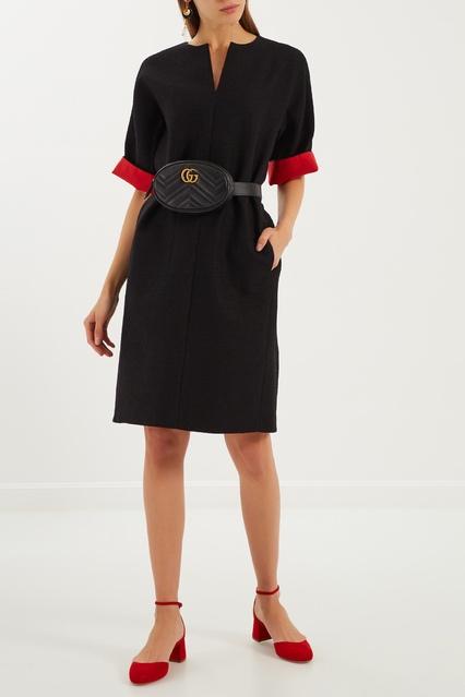 9267fd91f94 Черное платье с контрастными вставками The Dress – купить в интернет ...